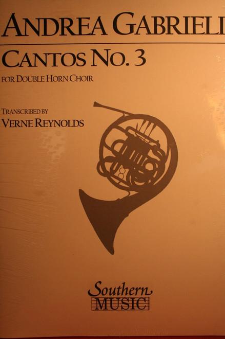 Gabrieli, Andrea - Cantos No. 3