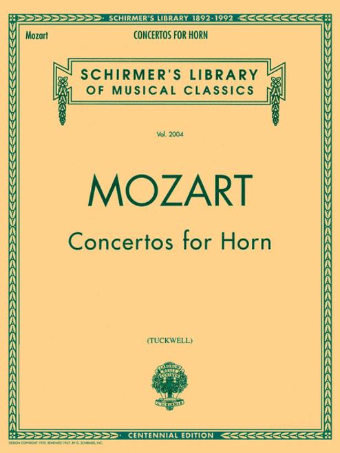 Mozart, W.A. - Four Concertos (Centennial Tuckwell) (image 1)
