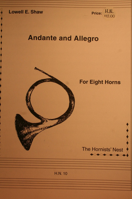Shaw, Lowell - Andante and Allegro