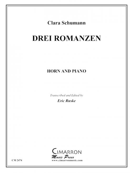 Schumann, Clara - Drei Romanzen (image 1)