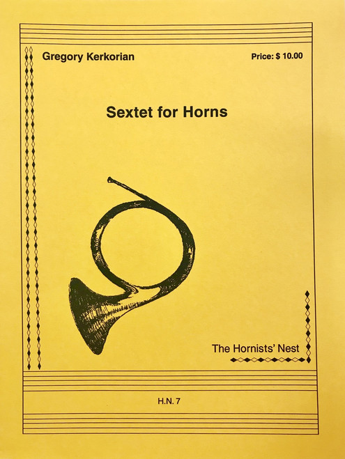 Kerkorian, Gregory - Sextet for Horns (image 1)