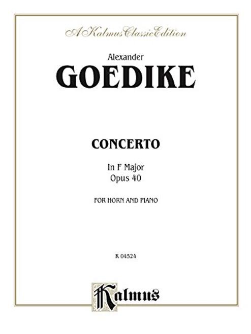 Goedike, Alexander - Concerto in F Major, Op. 40 (image 1)