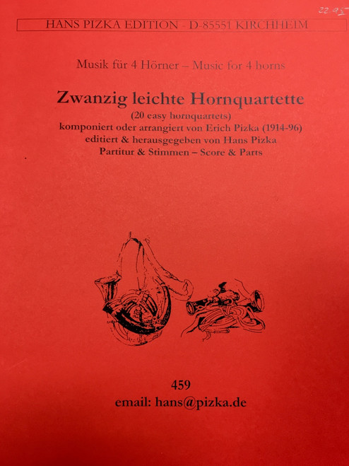 Pizka, Erich - 20 Easy Horn Quartets