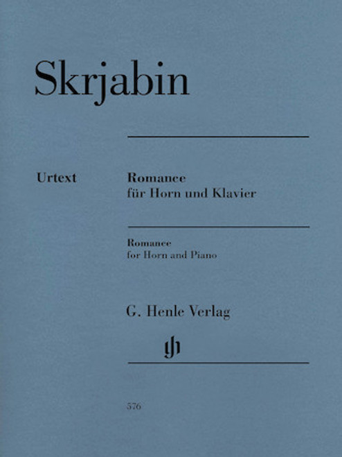Skrjabin, Alexander - Romance for Horn and Piano Urtext