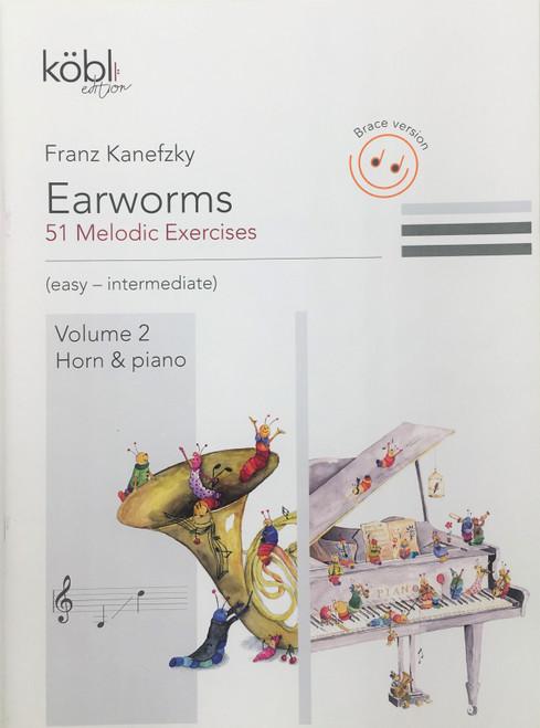 Kanefzky, Franz - Earworms, 51 Melodic Exercises, Volume 2, Horn & Piano