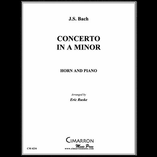 Bach /Ruske - Concerto in A Minor for Horn & Piano