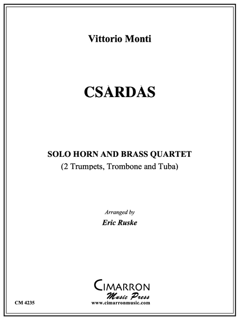 Monti / Ruske - Csardas for Horn and Brass Quartet