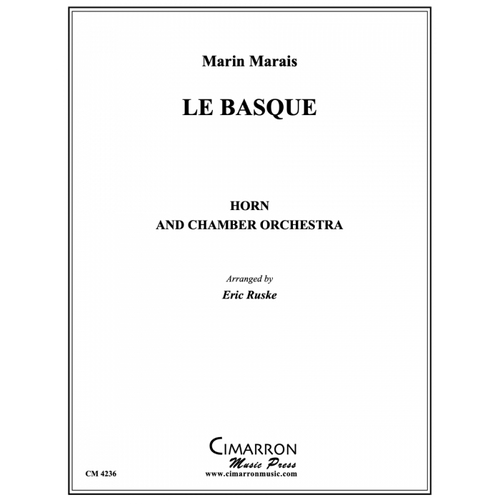 Marais /Ruske - Le Basque for Horn & Chamber Orchestra