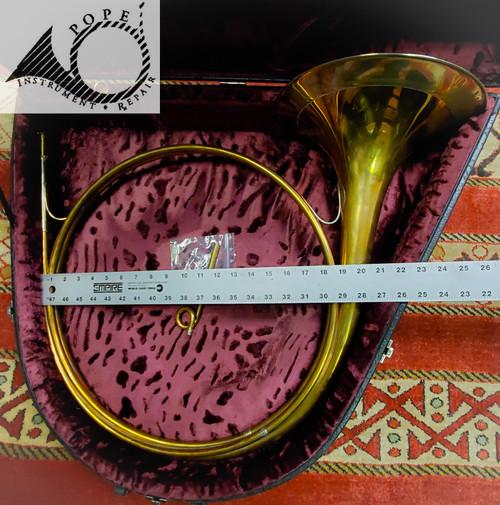 Worischek Parforce Hunting Horn with custom case