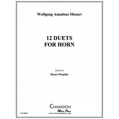 Mozart - 12 Duets for Horn, arr. Doughty