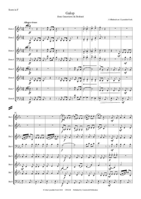 "Offenbach, Jacques - Galop Infernal from ""Orpheus in the Underworld"" - arr. Matthias Pflaum"