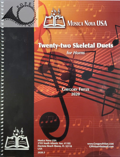 Fritze, Gregory - Twenty-two Skeletal Duets for Horns