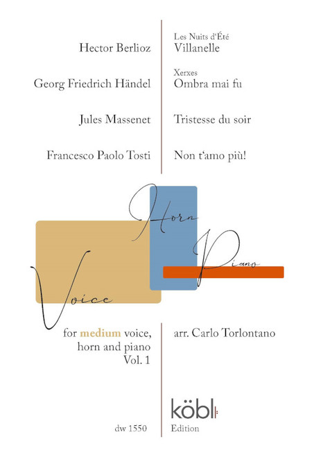 Voice Horn Piano V.1 (Medium Voice) - Berlioz / Handel / Massenet / Tosti