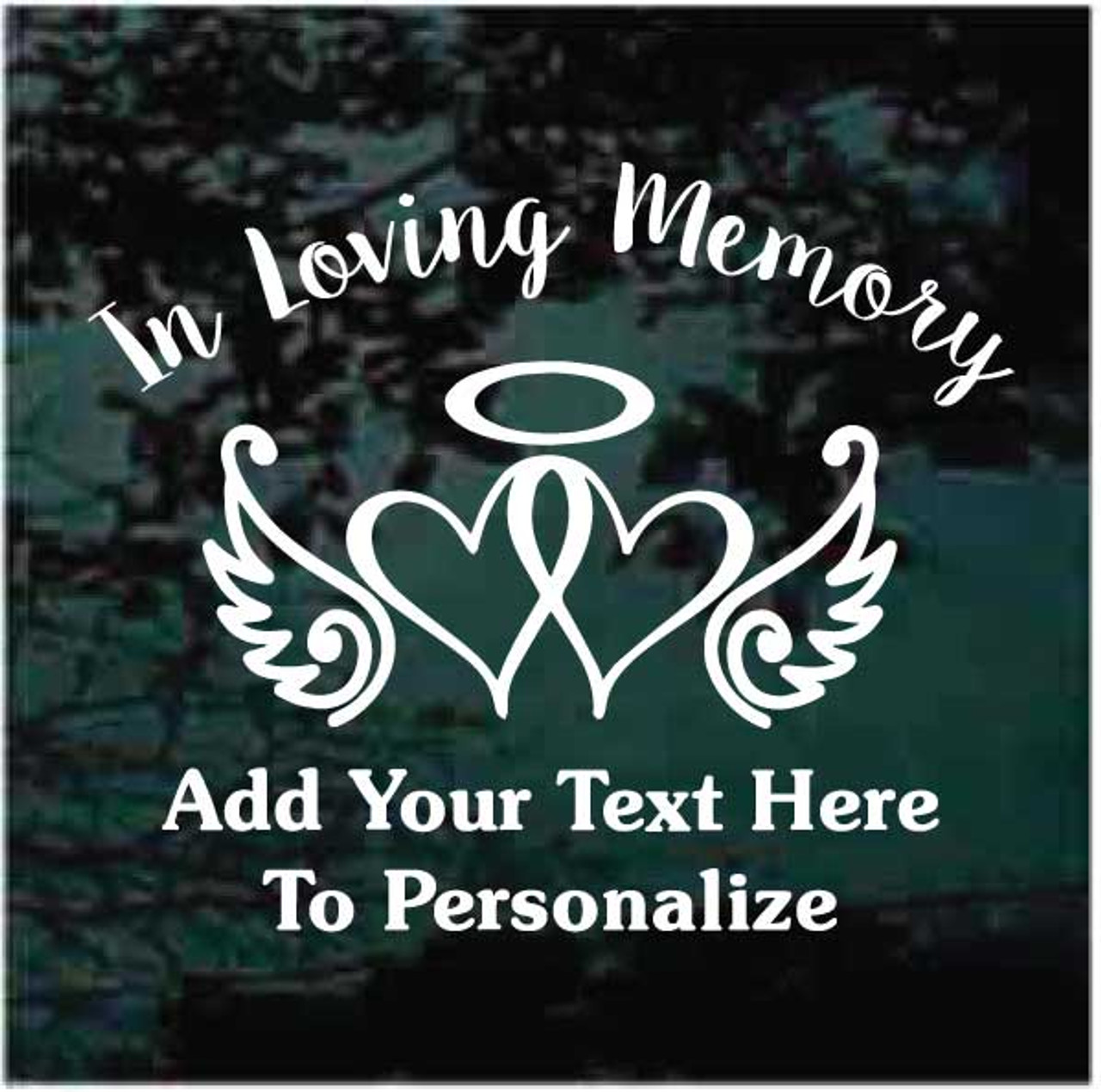 6d666b38183f Awareness Ribbon Hearts Memorial Decals   Stickers