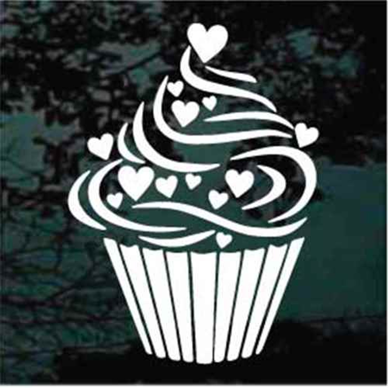 Cupcake Hearts Decals Decal Junky Stick Em Up