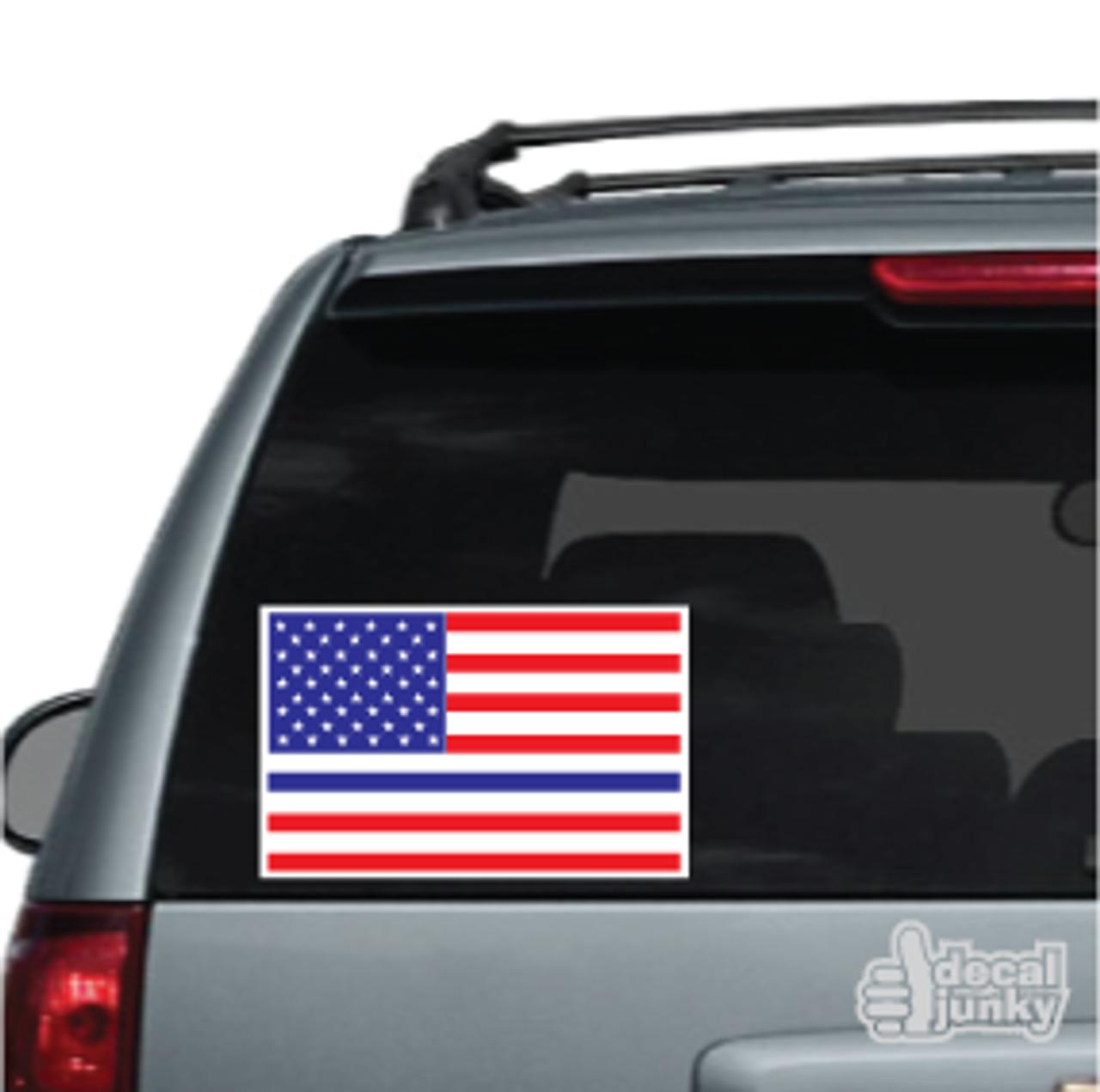 Thin Blue Line American Flag Car Decals