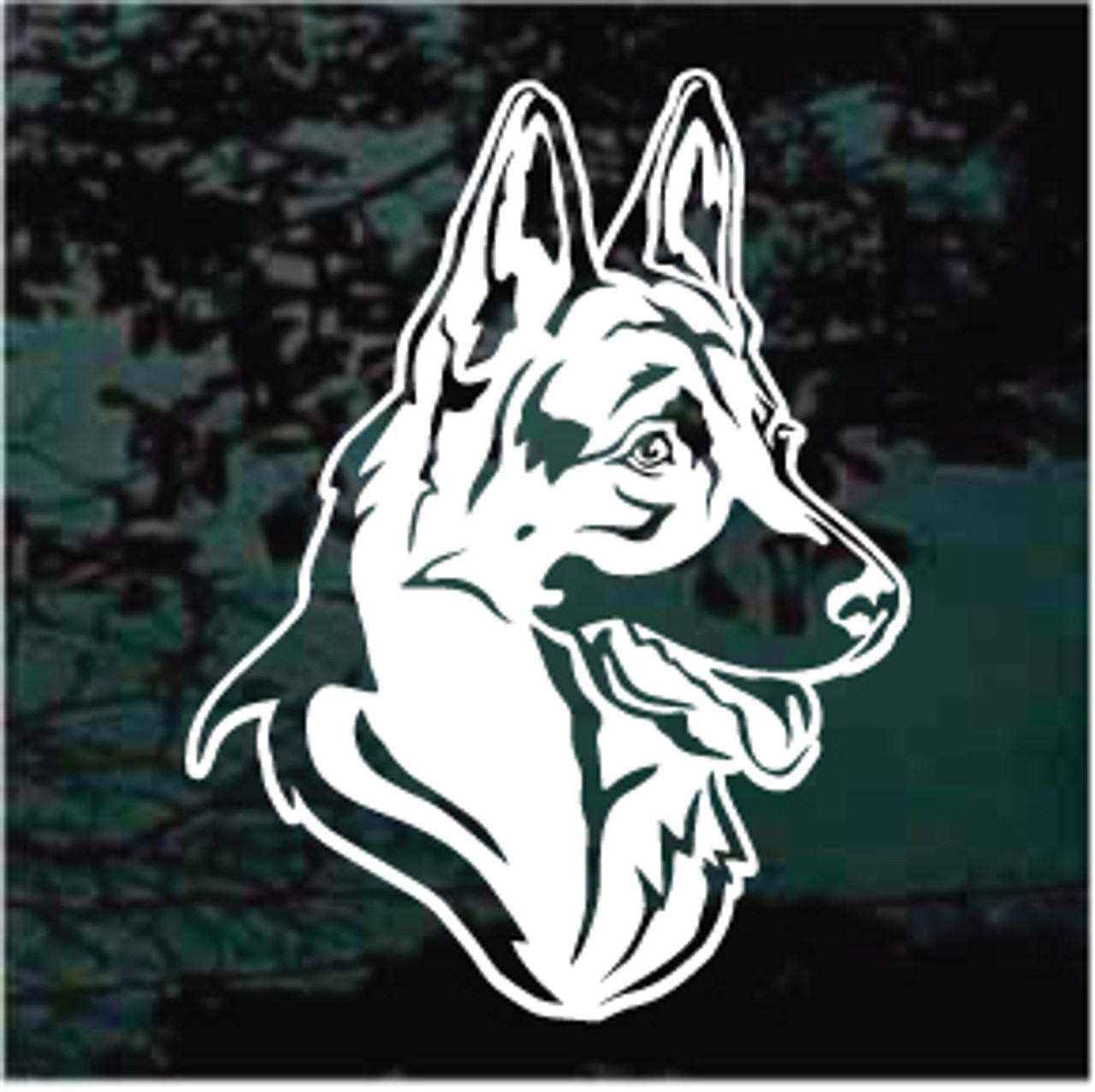 German Shepherd Trotting Window Decal