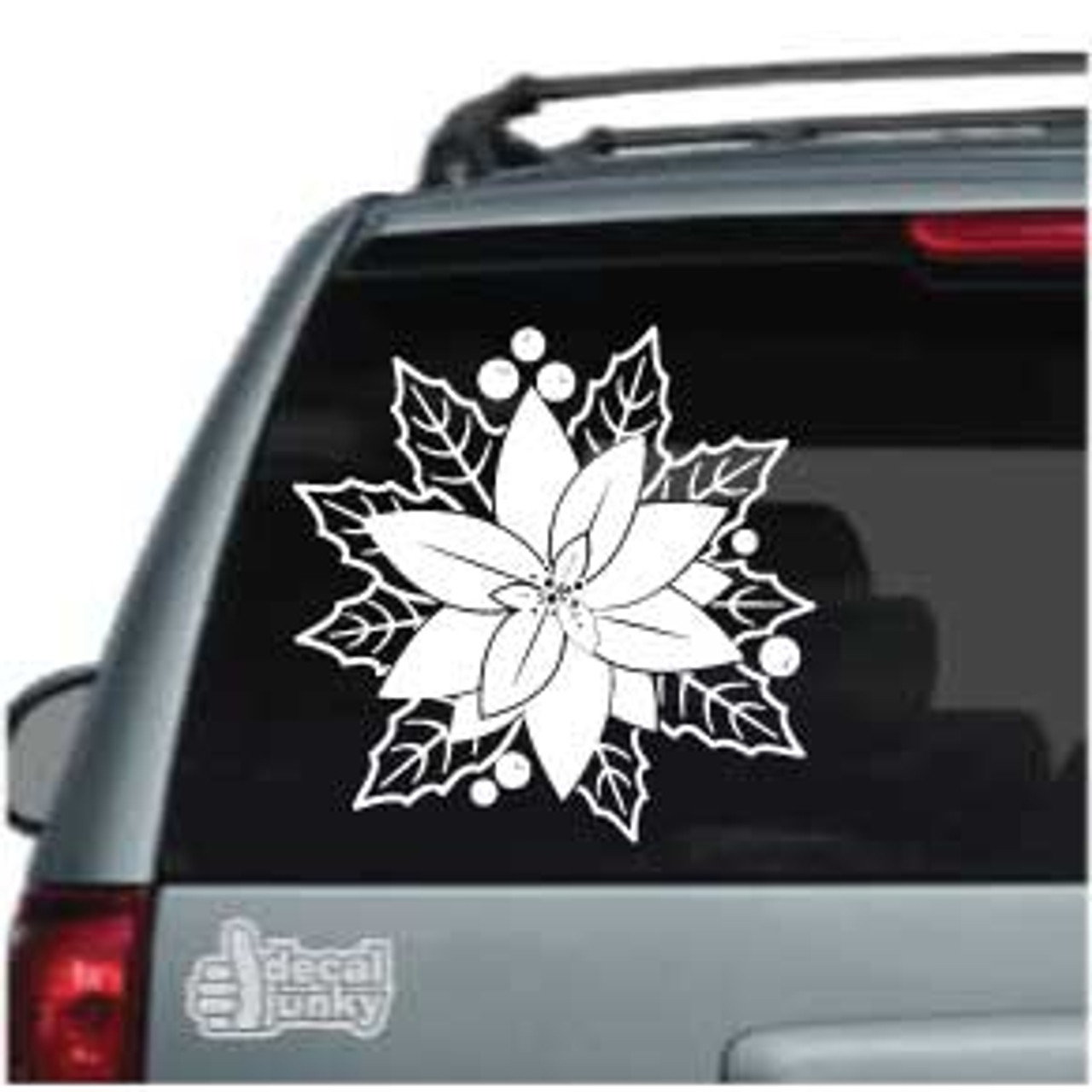 Vinyl Poinsettia Flower Decal