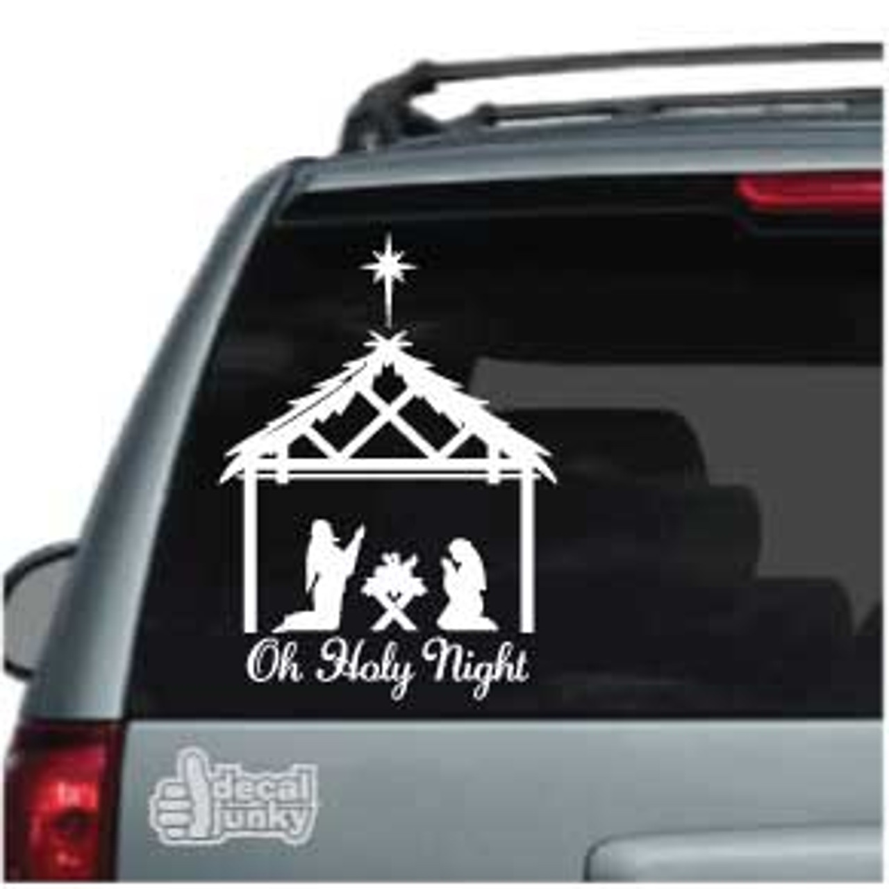 Oh Holy Night Nativity Car Window Decal