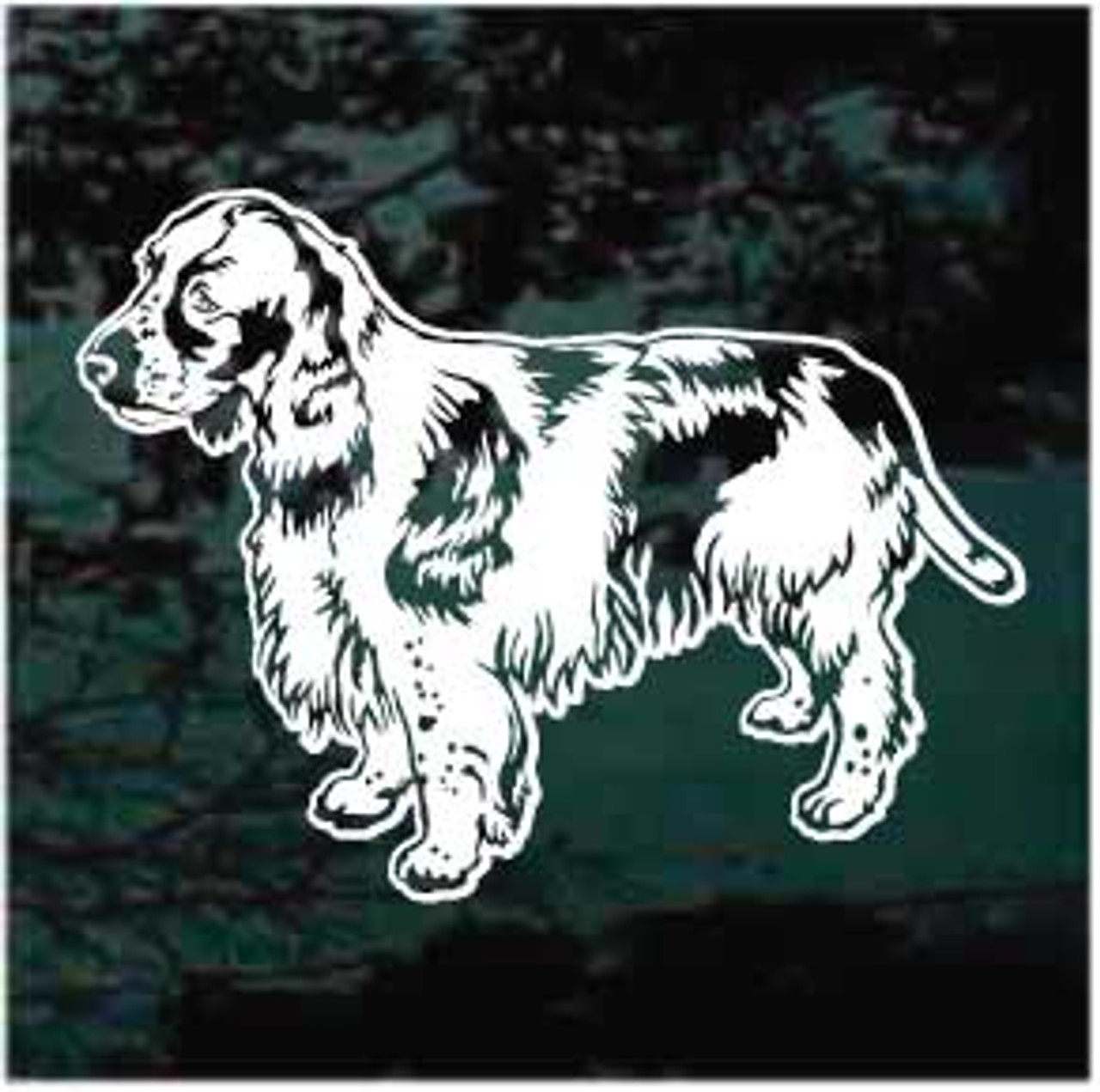 Pretty Springer Spaniel Dog Decals