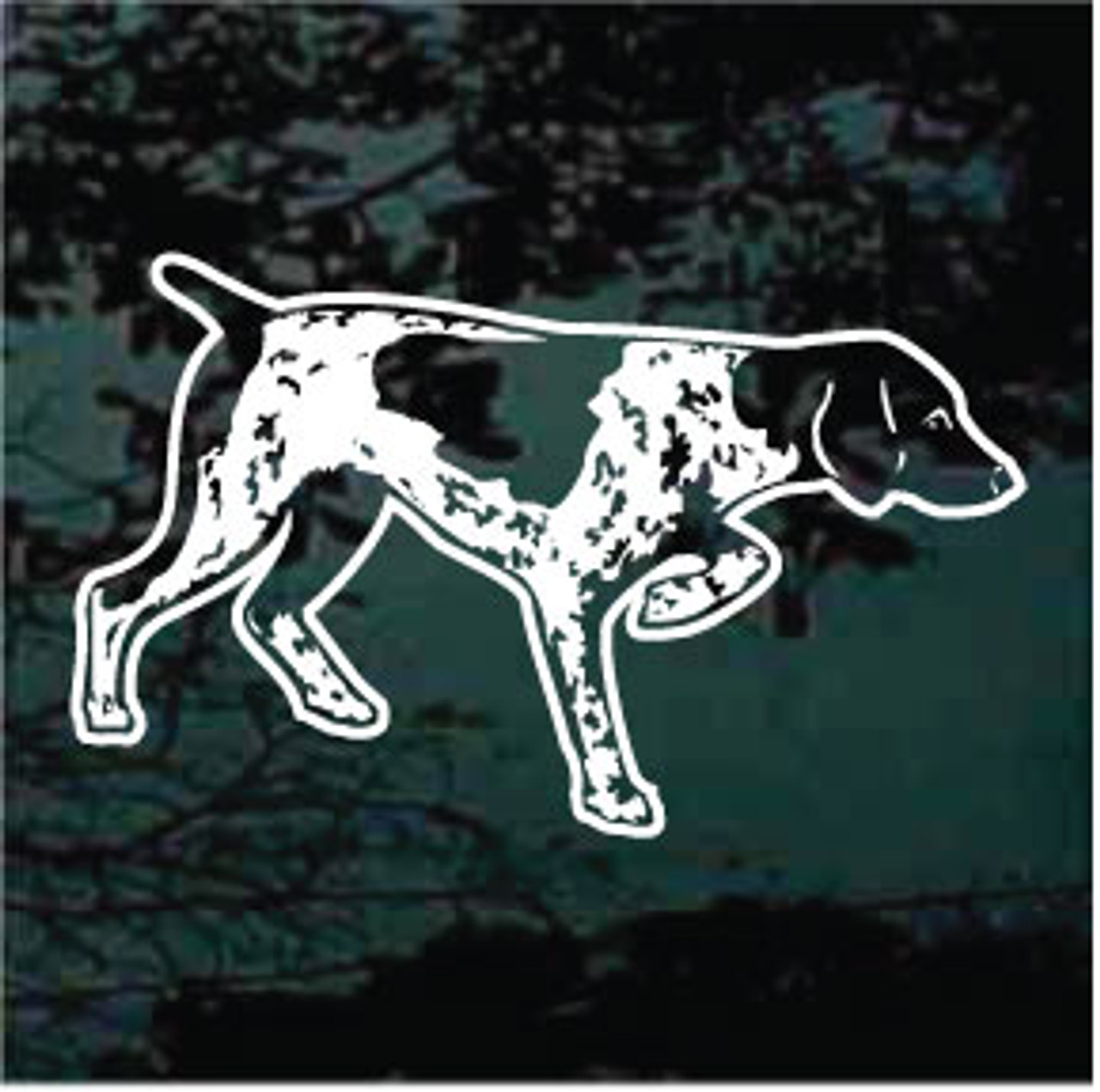 Detailed german shorthaired pointer window decal
