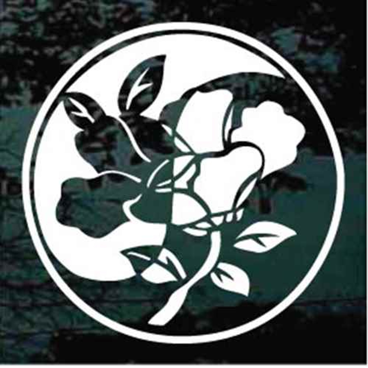 Chinese Flower Yin Yang Car Decals Window Stickers Decal Junky