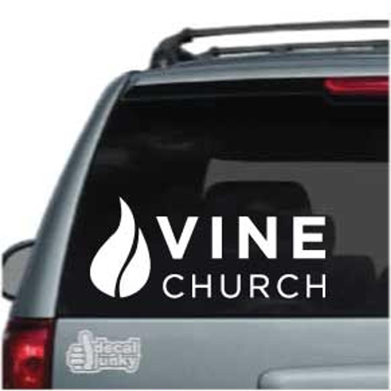 Vine Church Logo Car Decals