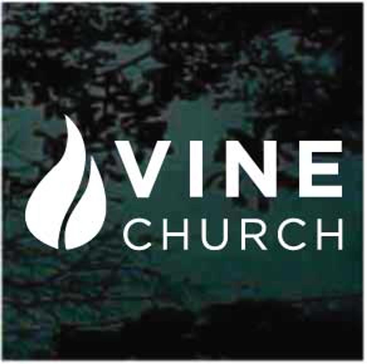 Vine Church Logo Window Decals