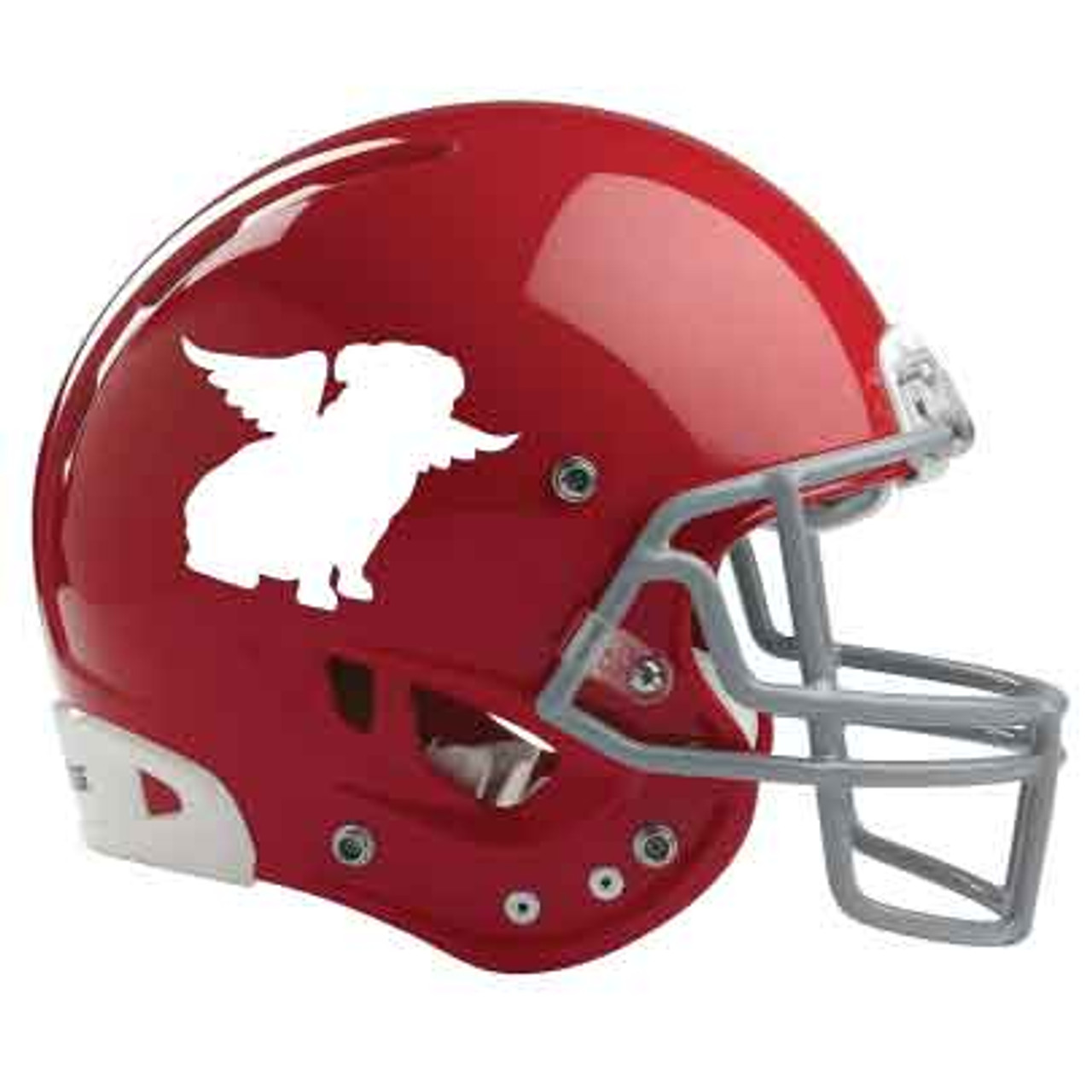 Bulldog Silhouette Sitting Angel Helmet Decal