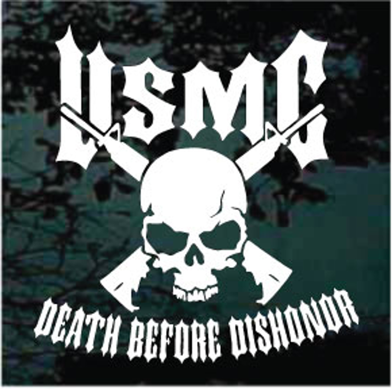 USMC Death Before Dishonor Window Decal