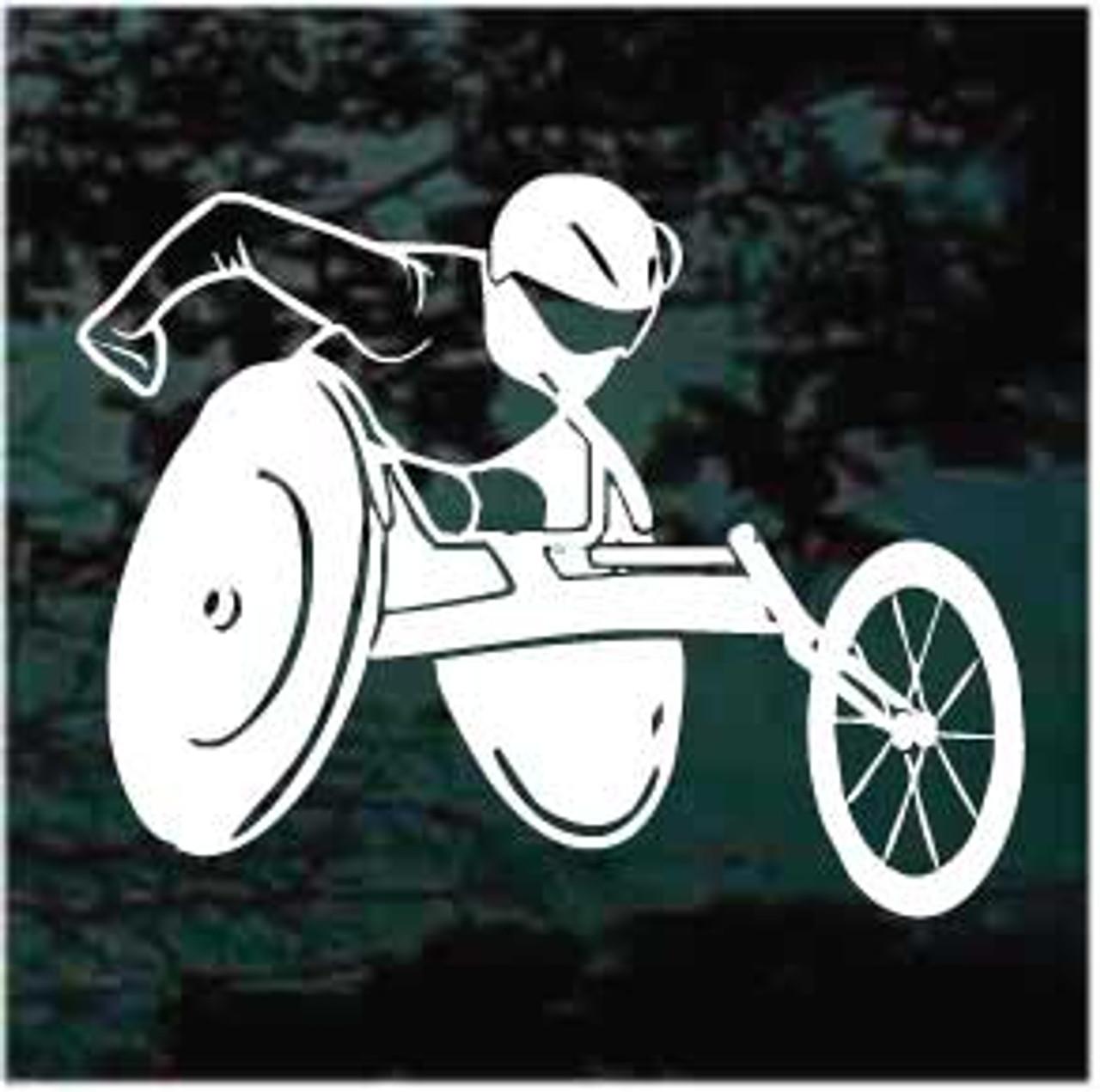 Wheelchair German Skull Sticker