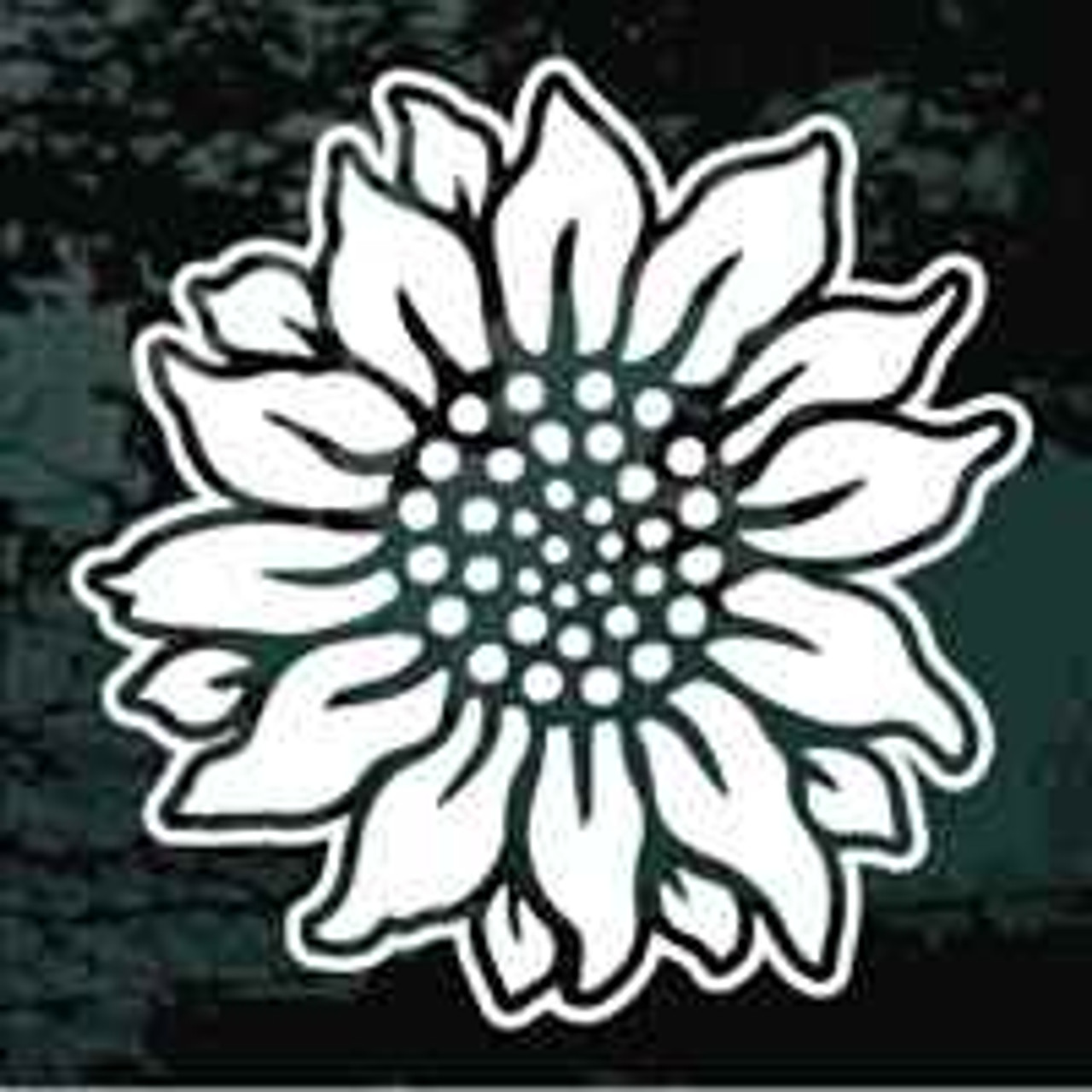 Sunflower Bloom Car Decals Amp Stickers Decal Junky