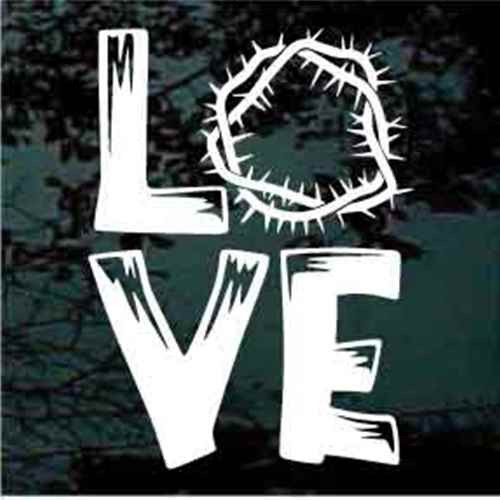 Crown Of Thorns Love Decals