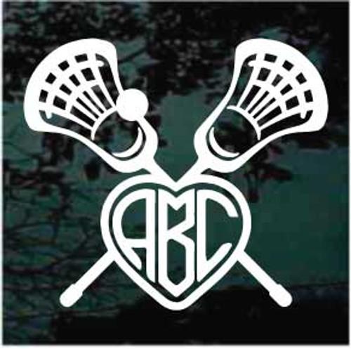 Lacrosse Sticks Monogram Decals