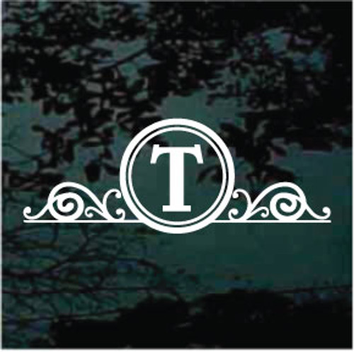 Round Decorative Belwe Monogram