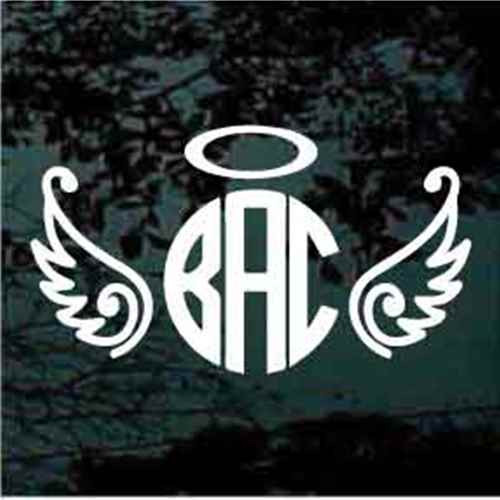 Angel Wings With Halo Monogram