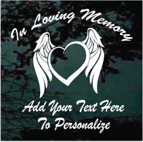 Angel Wings Heart Memorial