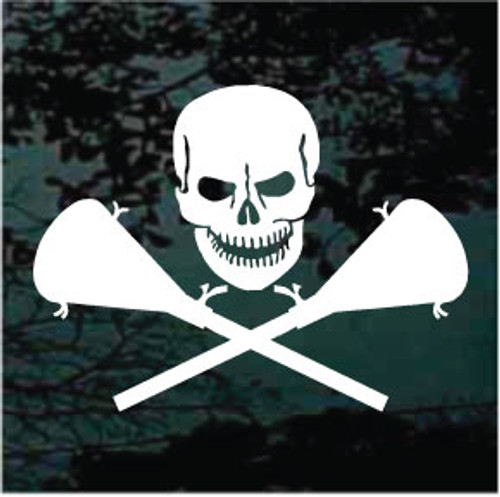 Lacrosse Sticks Skull Decal