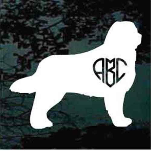 Bernese Mountain Dog Heart Monogram Window Decal