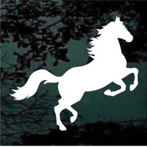 Horse Rearing Silhouette