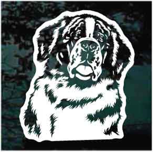 St. Bernard Head Window Decals
