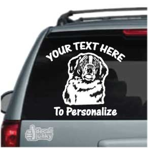 St. Bernard Head Car Decals