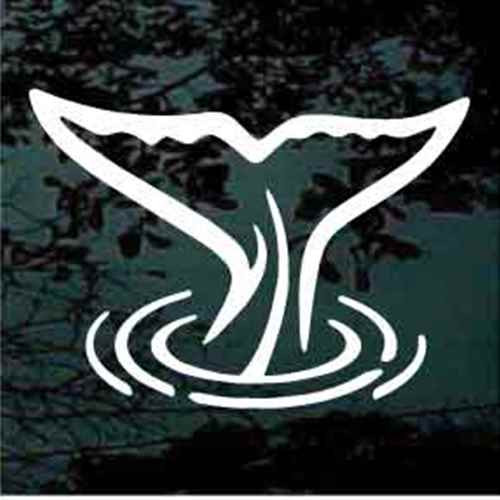 Graceful Whale Tail Car Decals