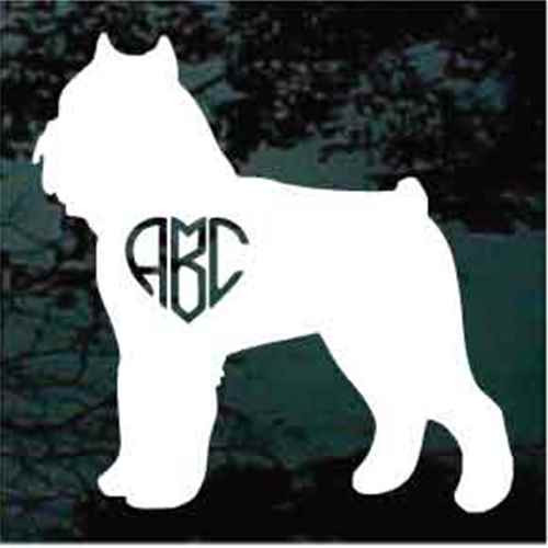 Brussels Griffon Heart Monogram Window Decal