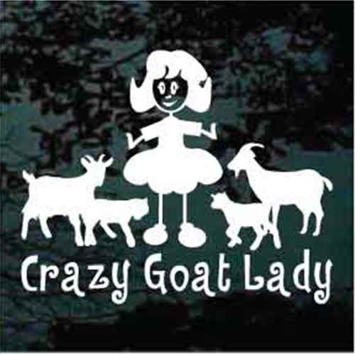 Crazy Goat Lady Window Decals
