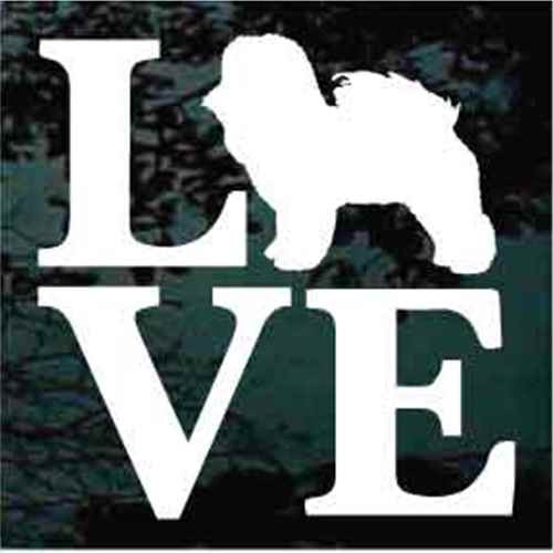 Bichon Frise Love Window Decal