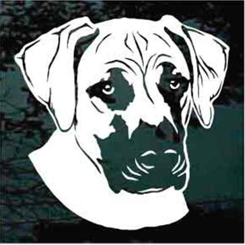 Black Mouth Cur Head Window Decal