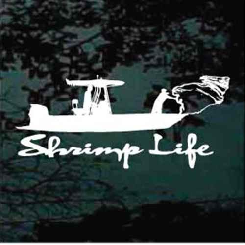 Shrimp Life Window Decals