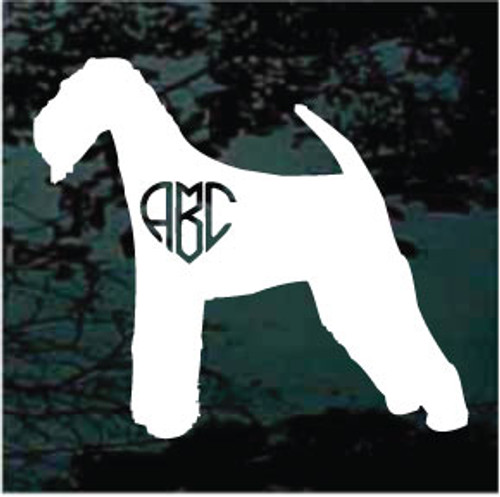 Airedale Terrier Heart Monogram Car Window Decal