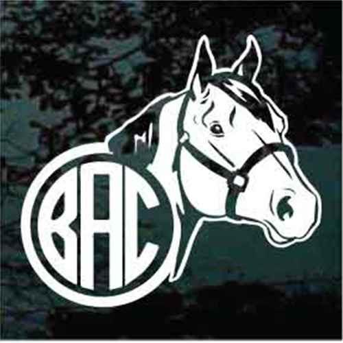 Quarter Horse Monogram Window Decal